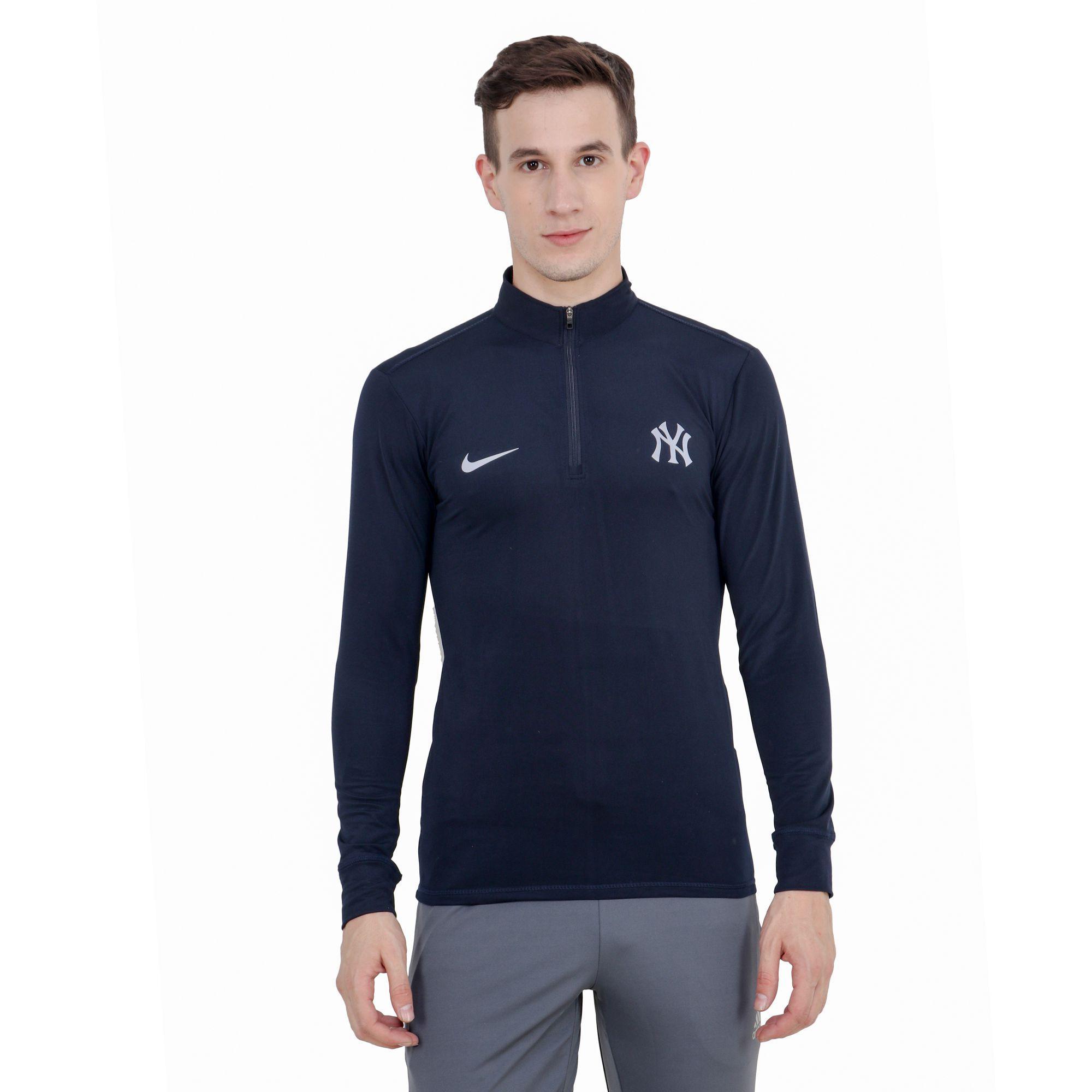 Nike Navy Polyester Lycra T-Shirt