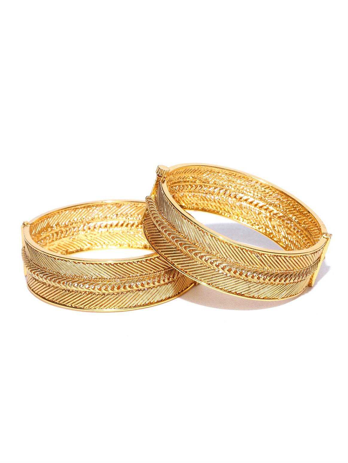 Priyaasi Exclusive Edition Of Delicate Design Traditional Gold Plated Bangle Set