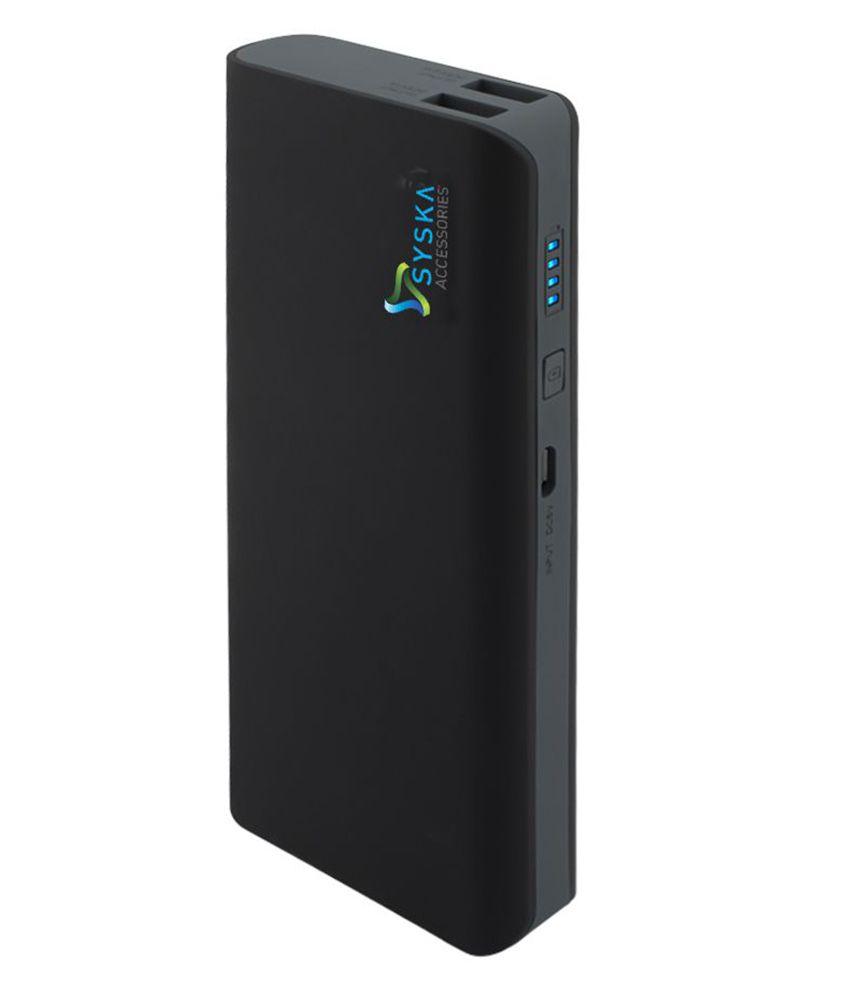 Syska X110 11000 mAh Li Ion Power Bank   Black