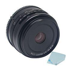 Mcoplus Meike 28mm f/2.8 Prime Fixed Manual Focus Lens for Olympus Panasonic 4/3 System APS-C Mirrorless Camera + Mcoplus Cleaning