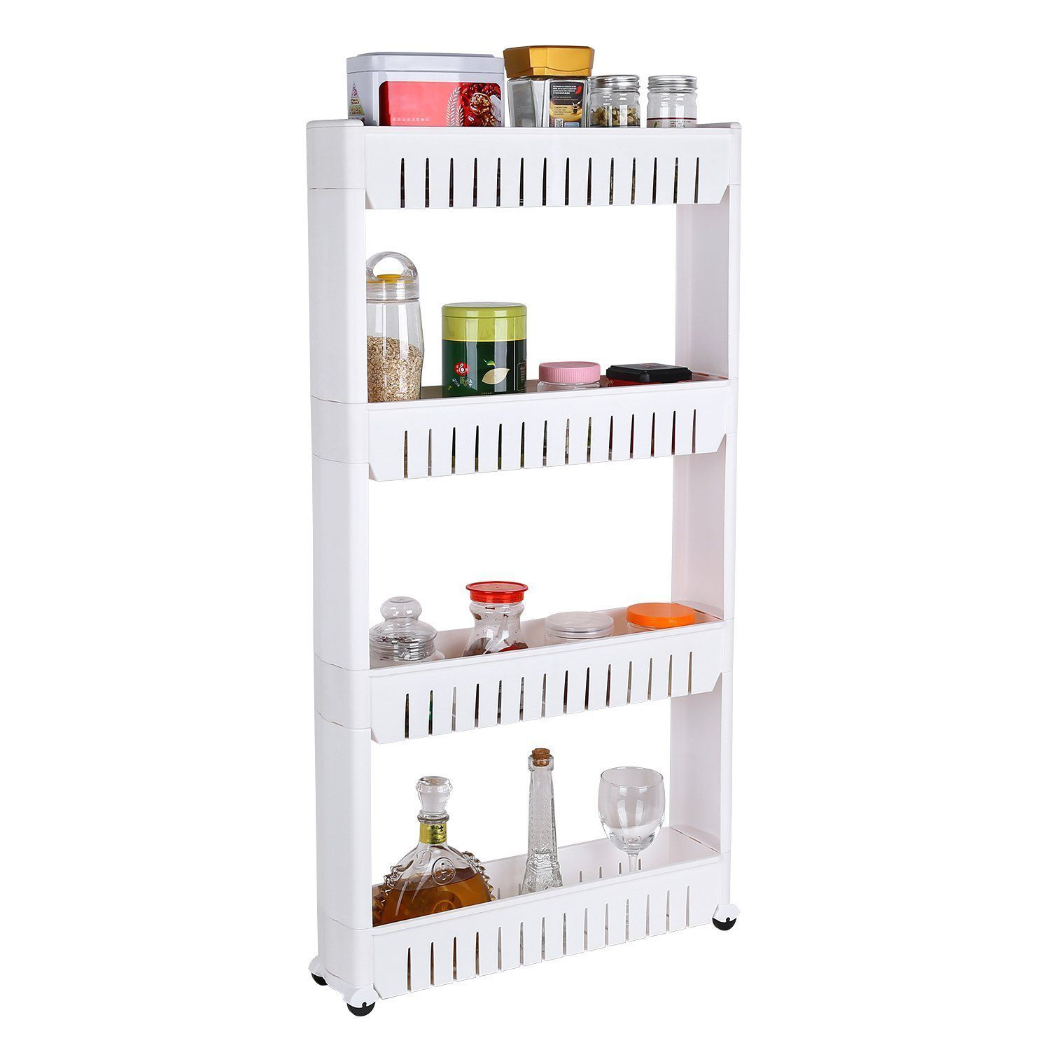 collapsible 4 layer slim storage organiser for kitchen rack bathroom rh snapdeal com