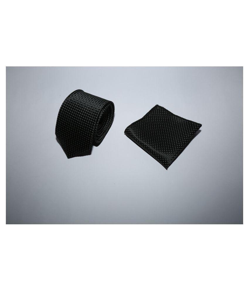 TIENETIC Black Abstract Micro Fiber Necktie