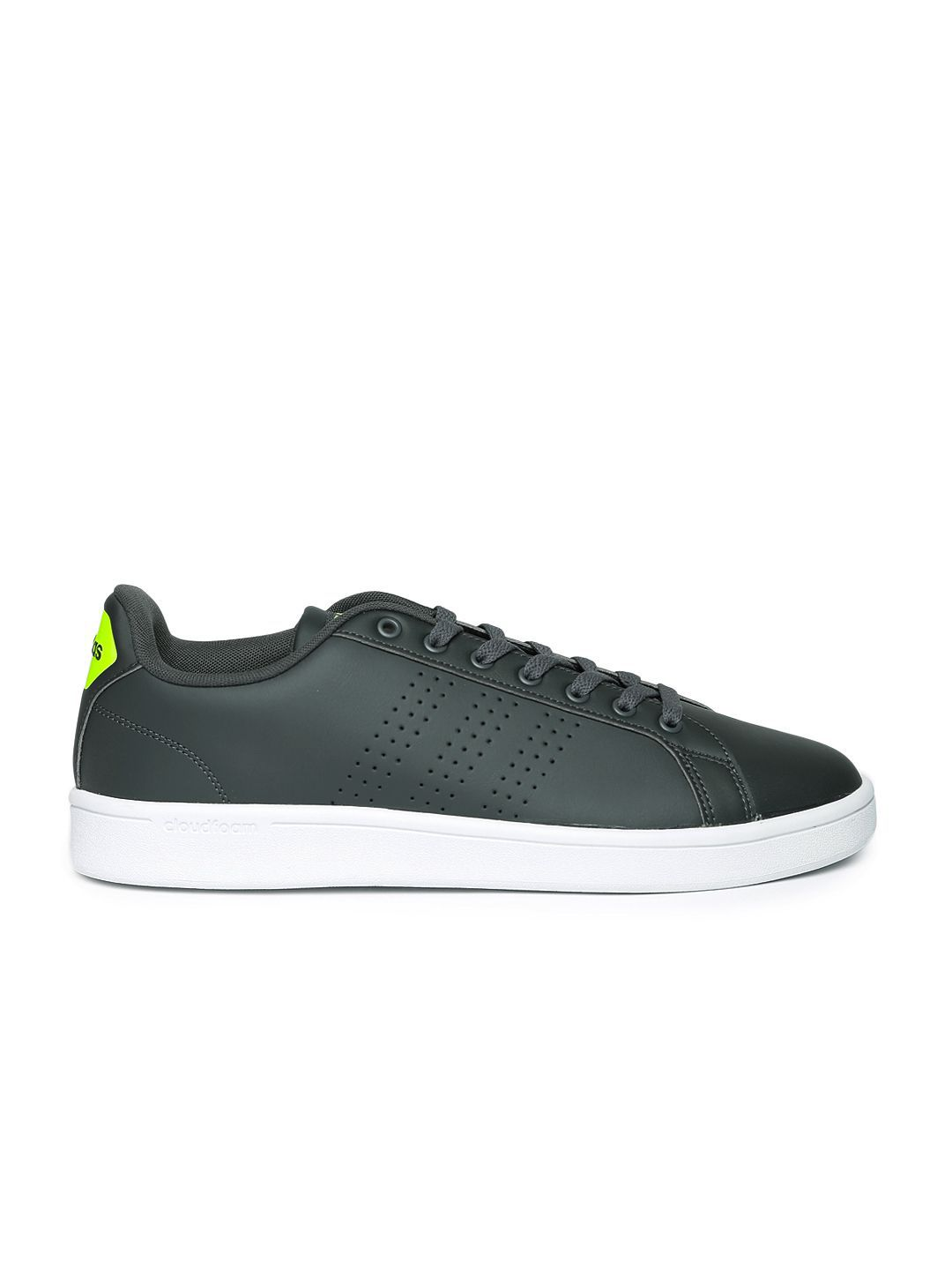 4a16b163c35 ... Adidas NEO Cloudfoam Advantage Clean Sneakers Gray Casual Shoes ...