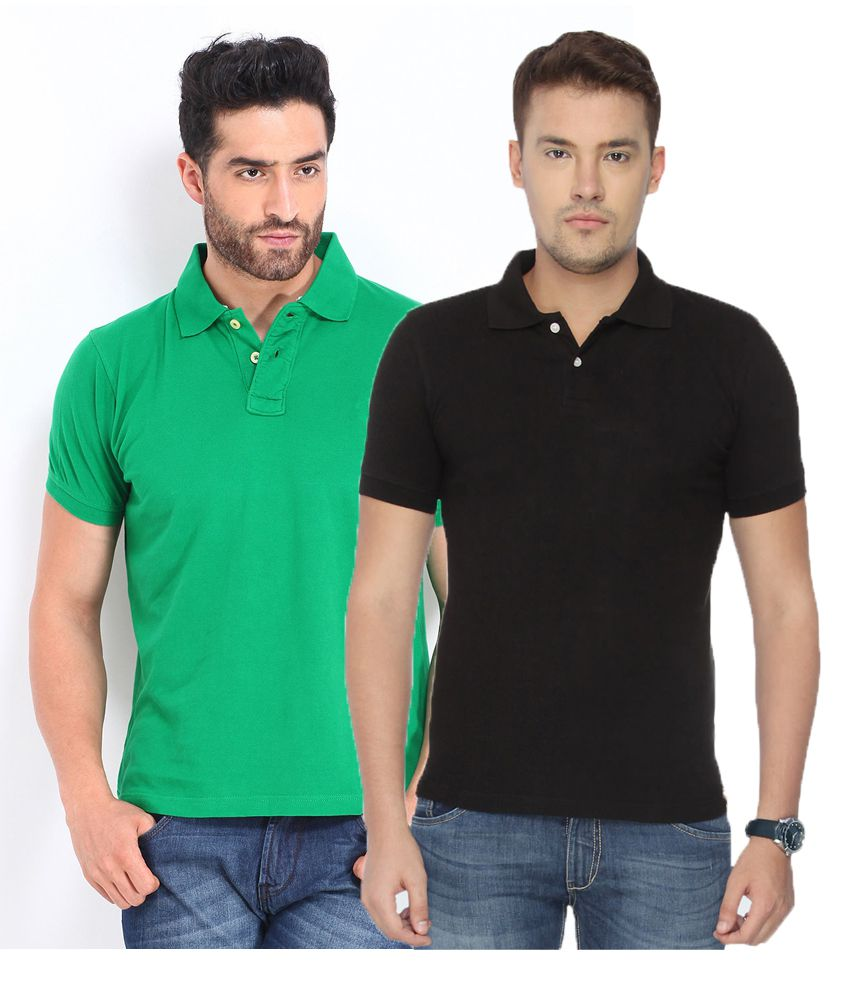 CONCEPTS Multi Cotton Blend Polo T-Shirt Pack of 2