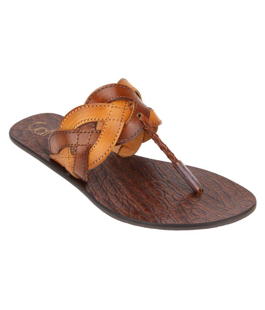 Catwalk Tan Slippers