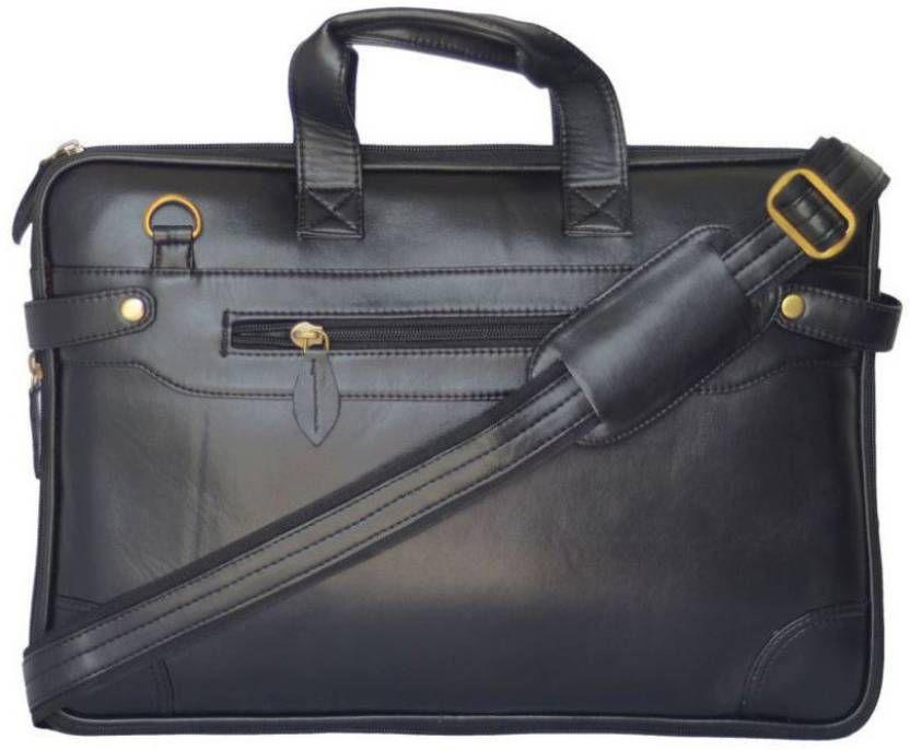 PhD Black Synthetic Office Messenger Bag