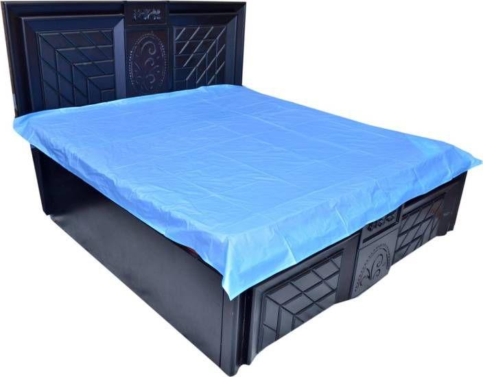 Khushi Creation NA Blue Poly Cotton Mattress Protector