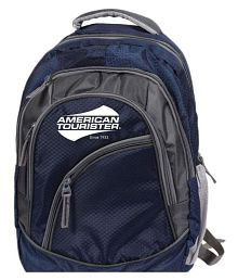 American Tourister Branded Backpack Laptop Bags College BagsNavy Blue