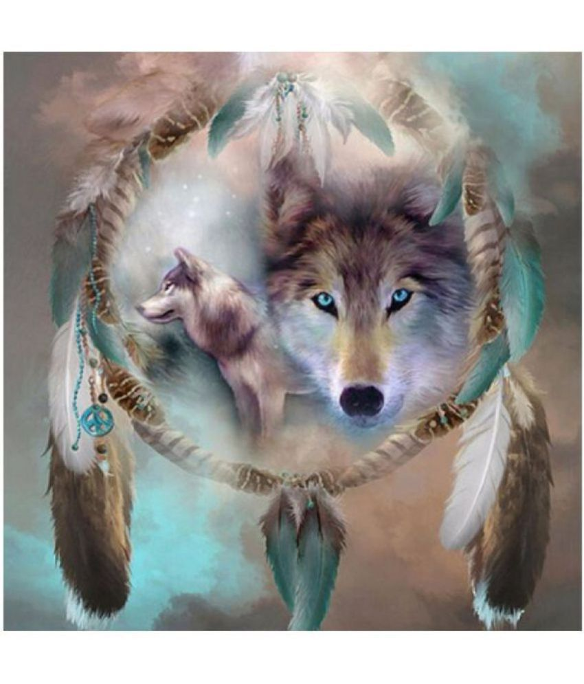 Wolf Digital Canvas Printing without Frame AHDCP-23R
