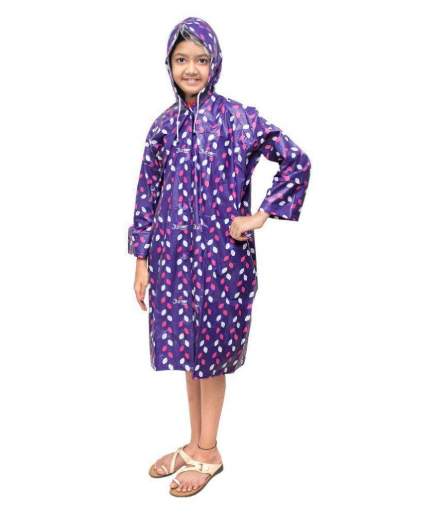 Goodluck PVC Girls Raincoat Full Sleeve