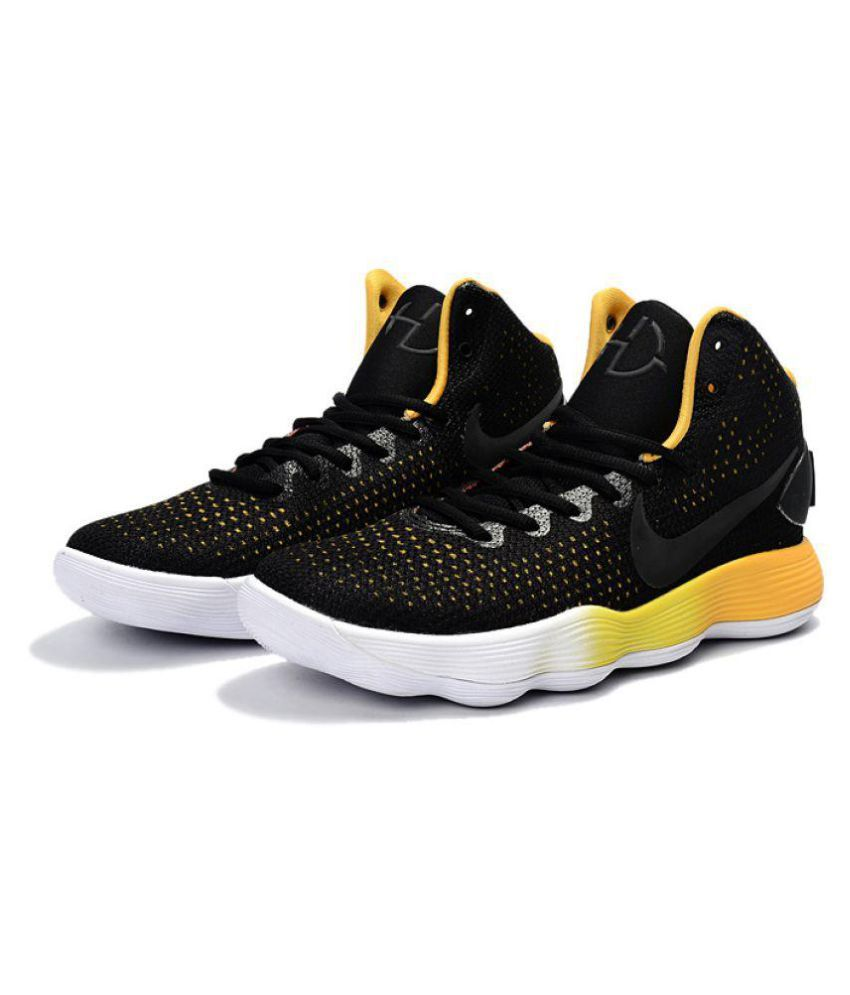 buy online 1ae8c cf696 Nike Hyperdunk Basketball Black Yellow Running Shoes - Buy Nike Hyperdunk  Basketball Black Yellow Running Shoes Online at Best Prices in India on  Snapdeal