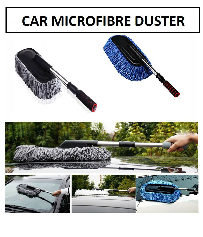 Scratch-Free Car Cleaning Microfibre Telescopic Duster for Car Cleaing or Washing (Multi color) -1 piece