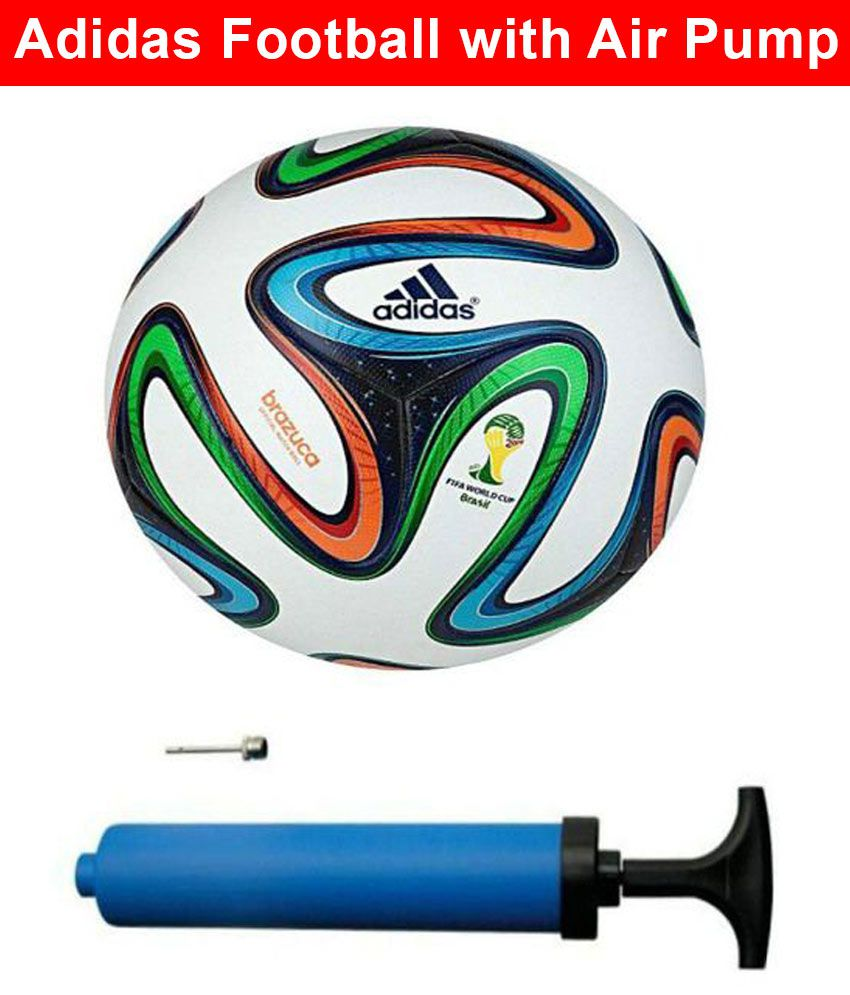 b366d5b7ae90b Adidas Brazuca Fifa World Cup (Size 5) Football   Ball with Air Pump  Buy  Online at Best Price on Snapdeal