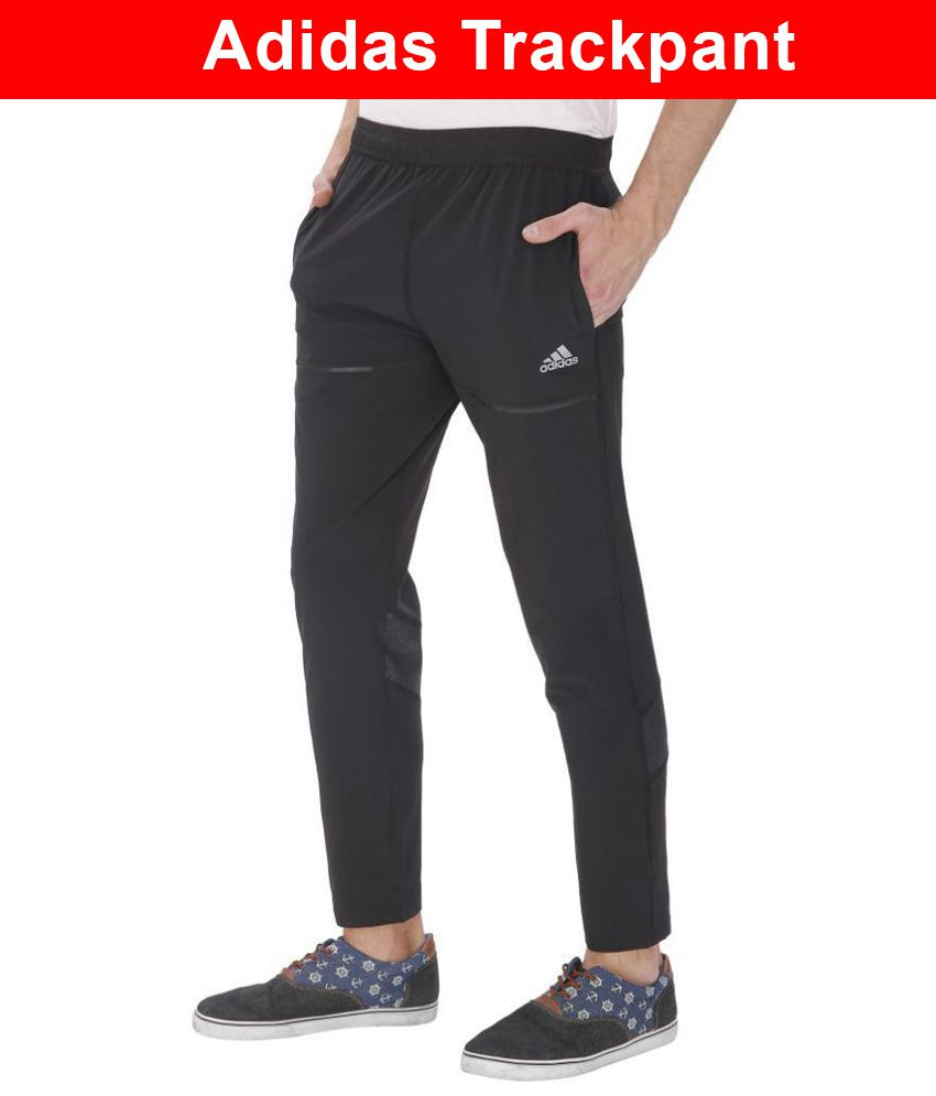 1a5019d4 Adidas Black Polyester Sports Gymwear Trackpants For Men: Buy Online at  Best Price on Snapdeal
