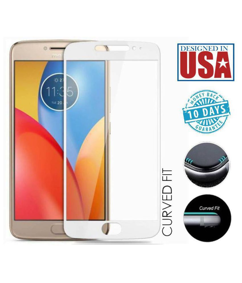 Motorola Moto E4 Plus Color Glass Screen Guard By Tempered Glasses