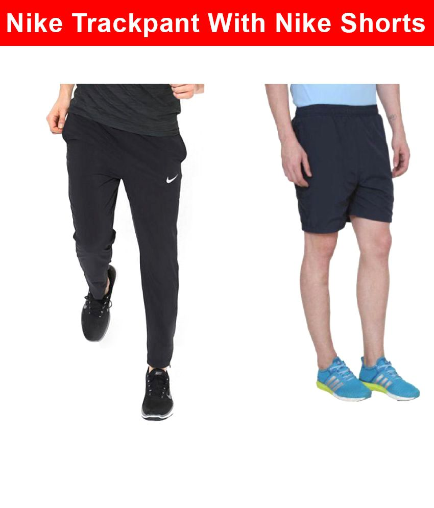 Nike Black Men/Boy's TrackPant and Shorts Combo Pack