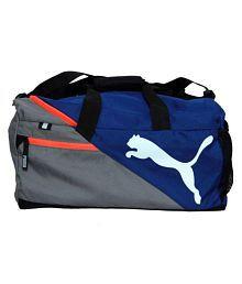 Puma Blue Solid Duffle Bag