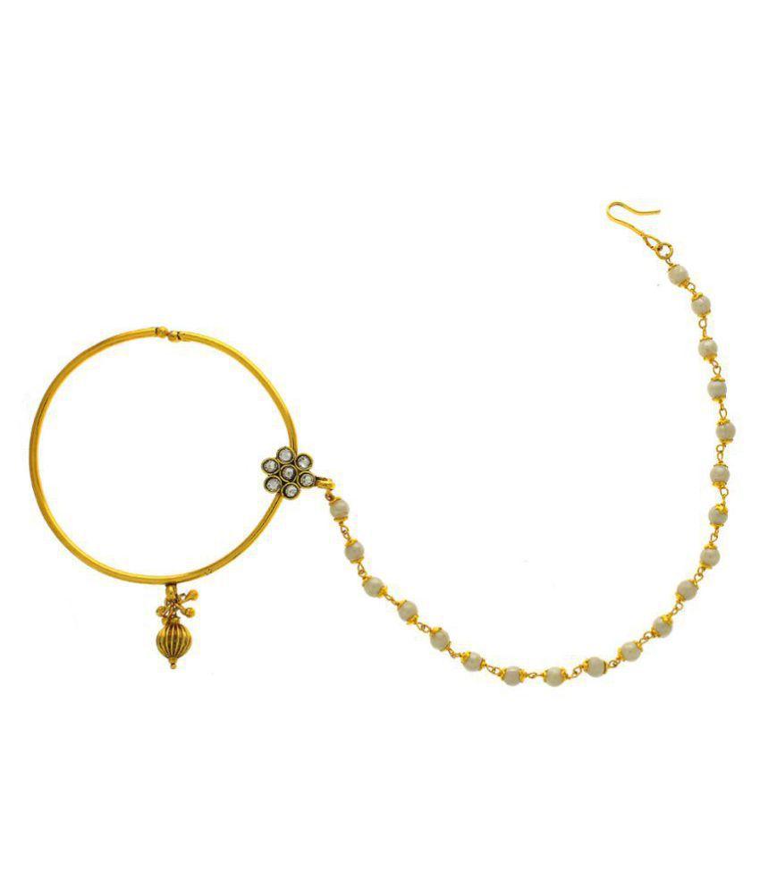 Anuradha Art Gold Finish Simple Stylish Wonderful Traditional
