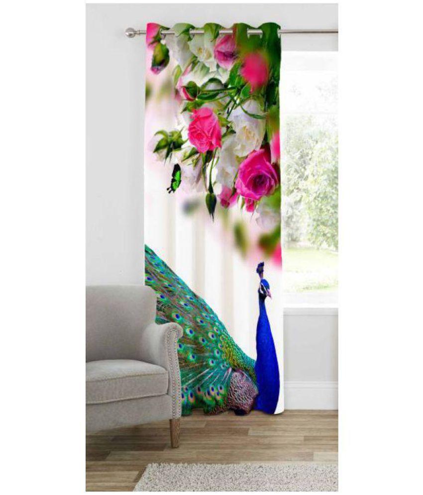 Geonature Single Door Eyelet Curtains Printed Multi Color