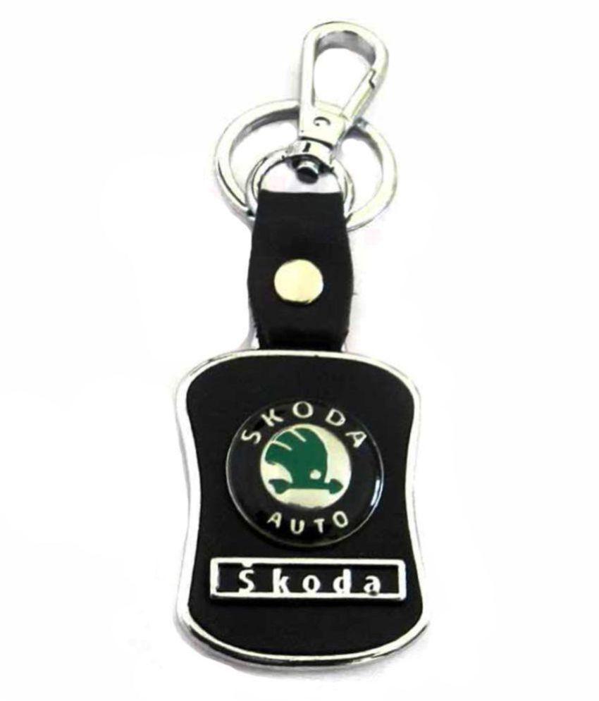 Leatherite Skoda Locking Key Chain