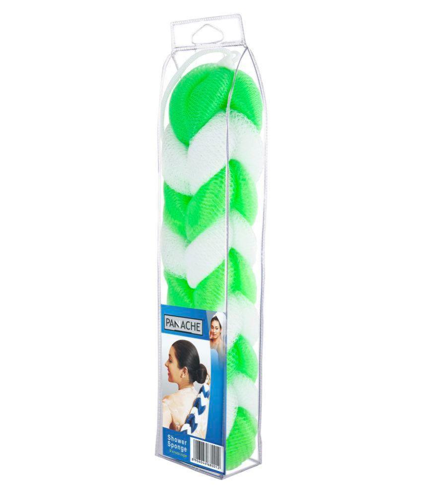 Panache Shower sponge green & white, pack of 1 Bath Sponge Green