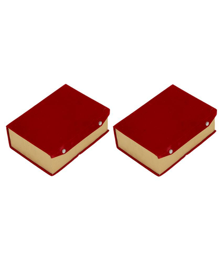 Kuber Industries™ Two Roll Bangle Box In Velvet Hard Board Material Set of 2 Pcs  (Code-COM027)