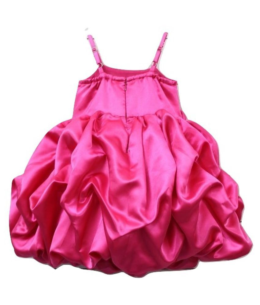 da6e37e45ae3 Pink Wings Baby Girls Party Wear Frock, Birthday Frock - Buy Pink ...