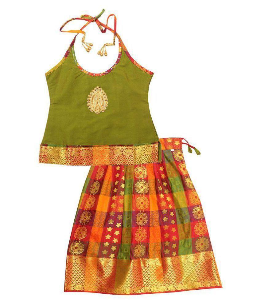 44efd0e0b301 Preethi Dresses Lehenga Choli (Pattu Pavadai Sattai) - Buy Preethi Dresses  Lehenga Choli (Pattu Pavadai Sattai) Online at Low Price - Snapdeal