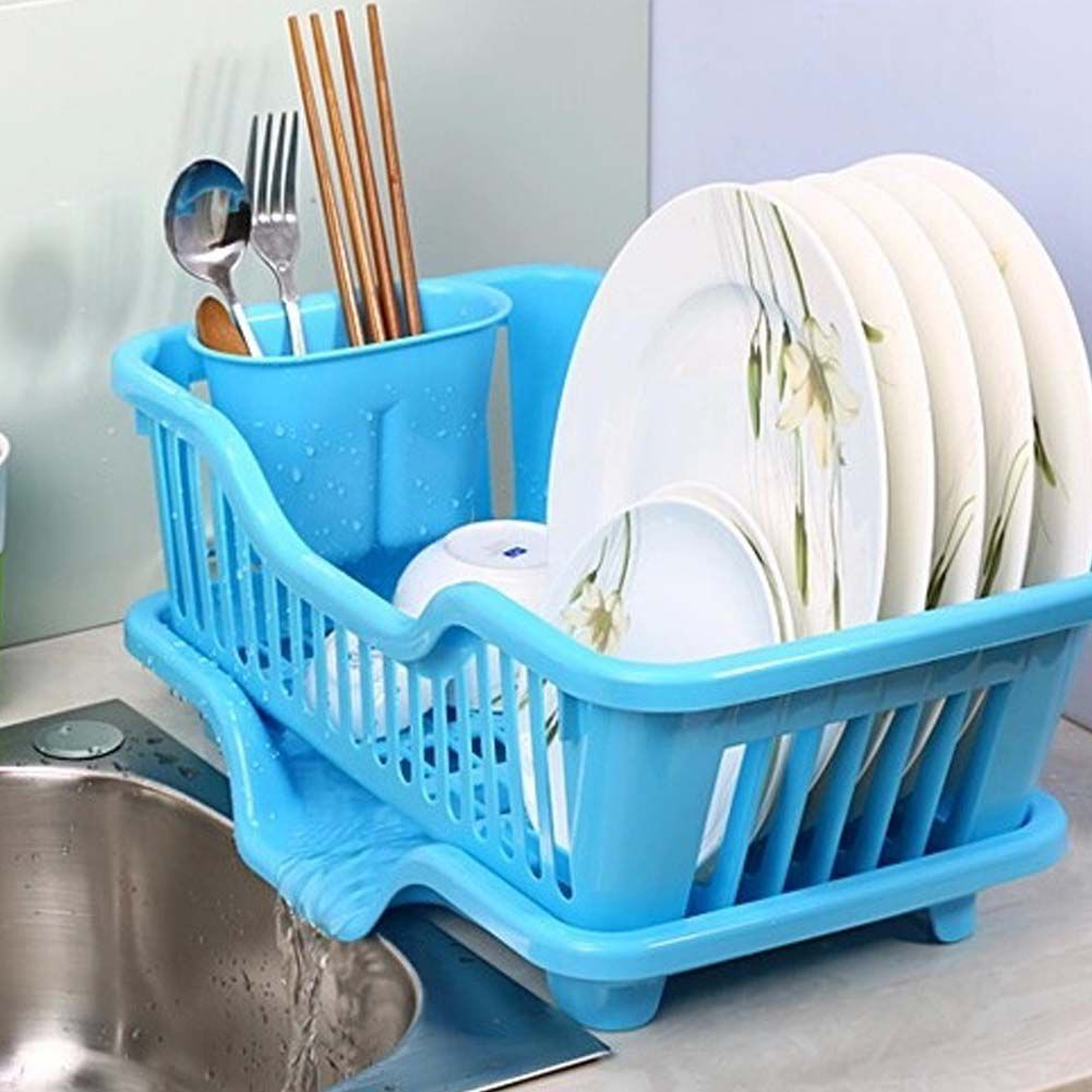 House of Quirk Great Kitchen Sink Dish Drainer With Removable Tray ...