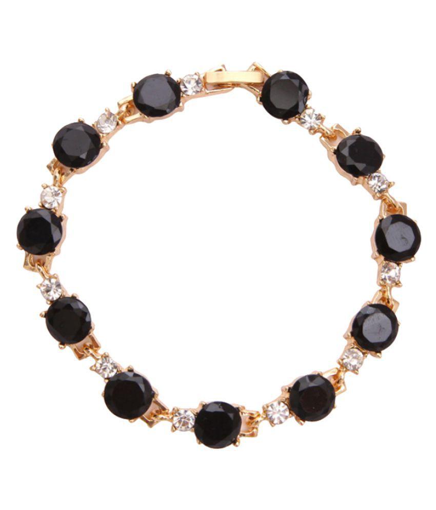 Black Crystal Studded Bracelet