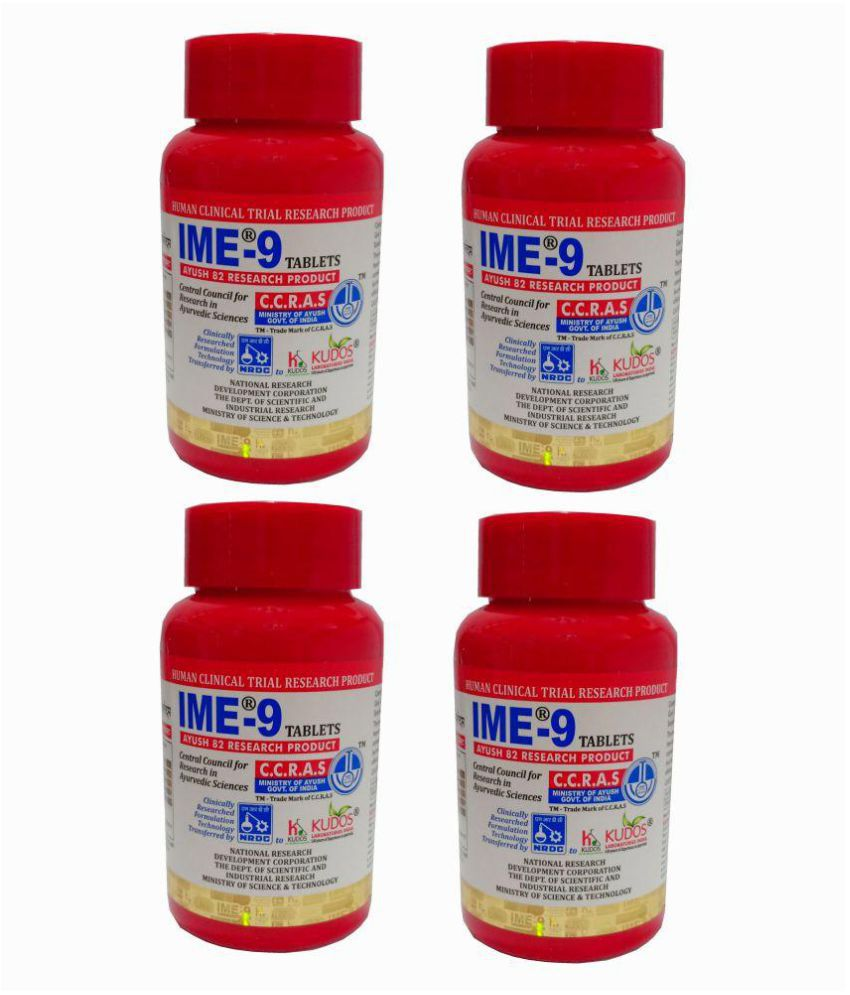 Kudos IME-9 Tablets 180 TABS (Pack of 4)