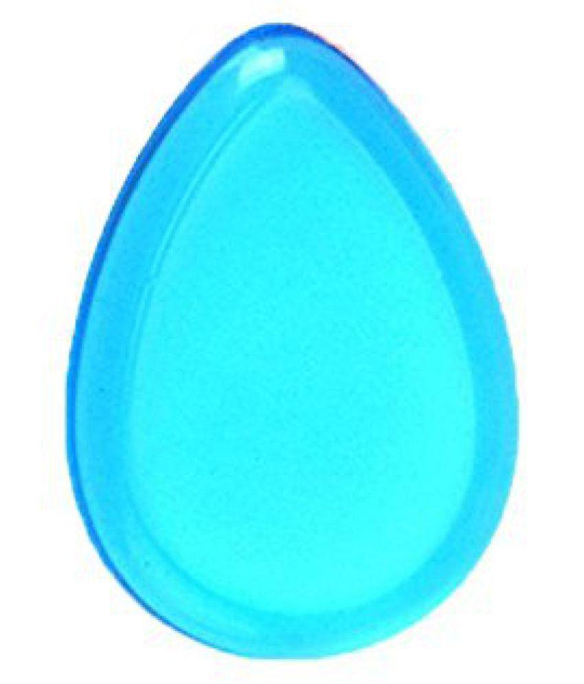 FOK Silicon Washable Jelly Make Up Sponge 1 no.s Flawless Beauty Tool (Aqua Blue)