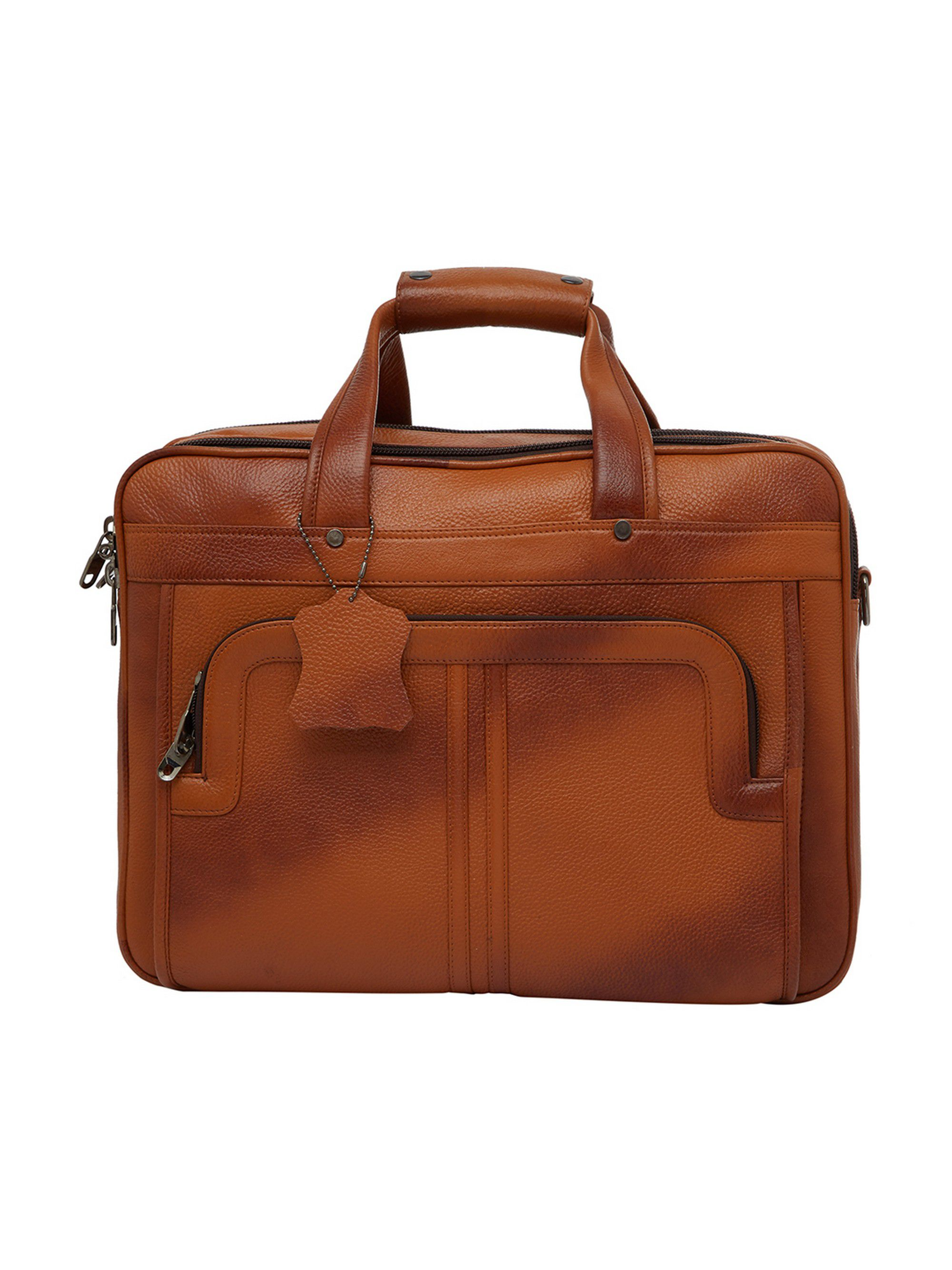 Leather World Office Bag Brown Leather Office Bag
