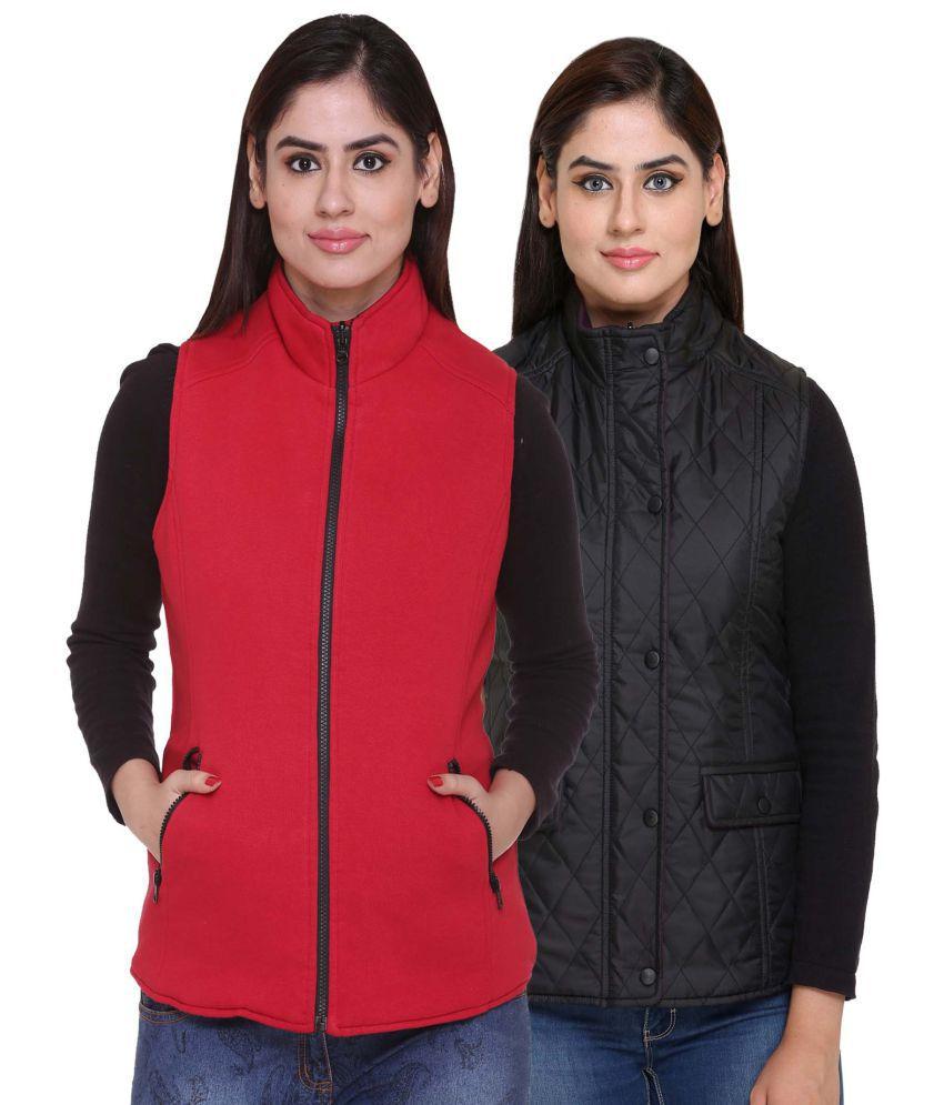 Trufit Polyester Blend Black Reversible Jackets