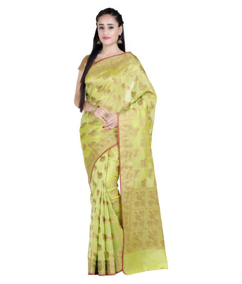Chandrakala Green Cotton Saree