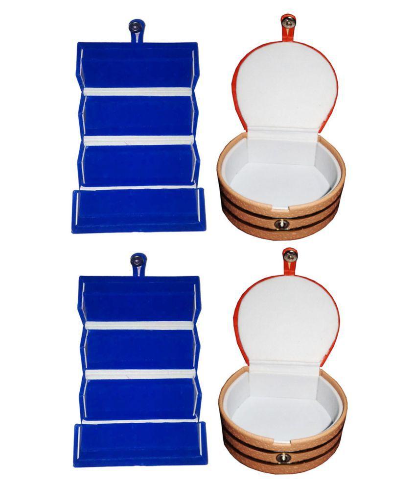 Combo 2 pc blue ear ring folder and 2 pc bangle box