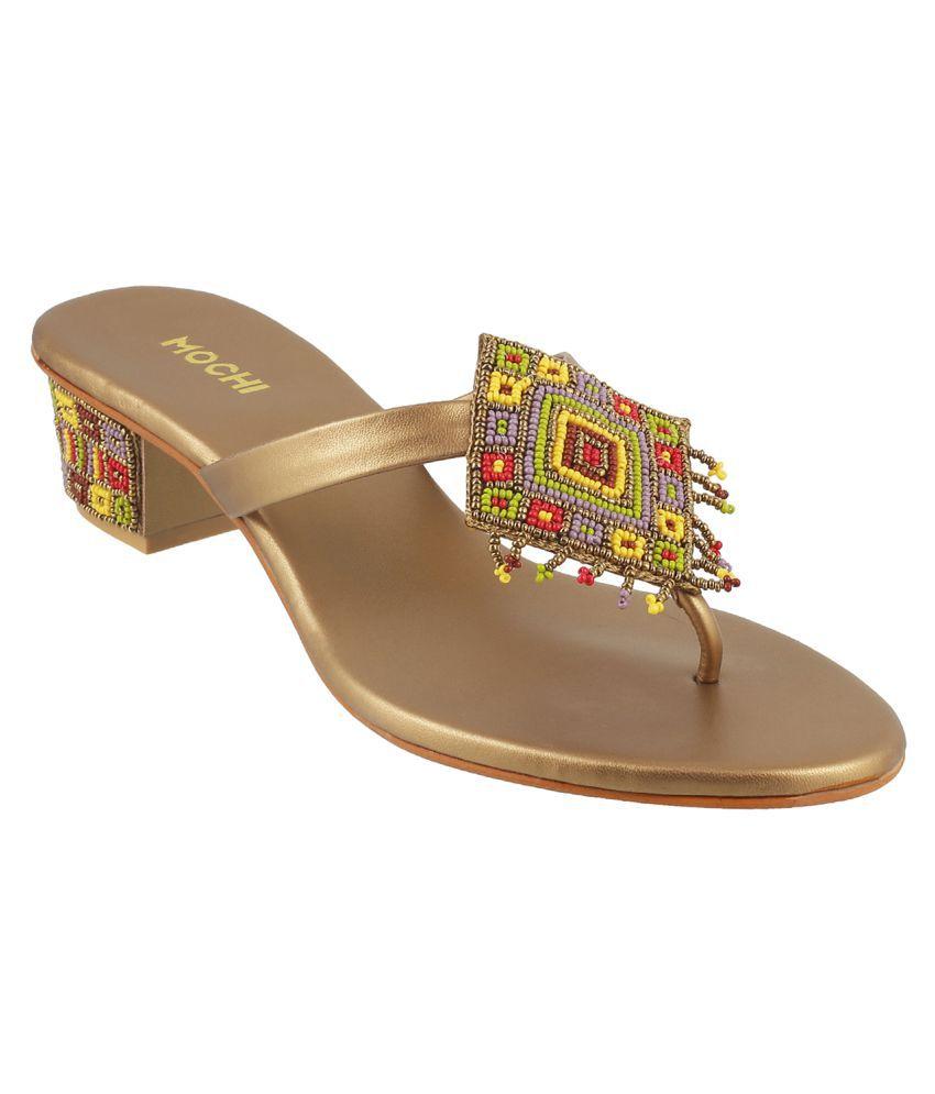 MOCHI GOLD Block Heels
