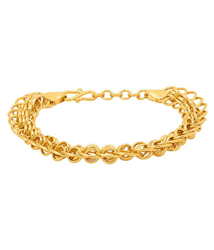 Dare by Voylla  Brass Linking Laureate Gold Plated Bracelet