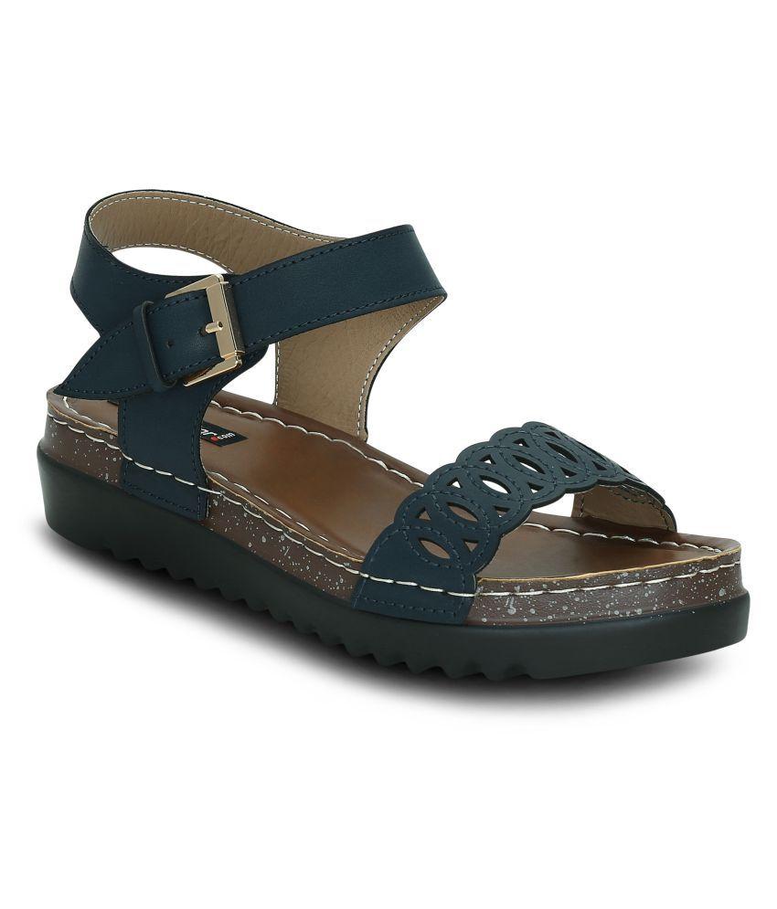 Get Glamr Blue Wedges Heels