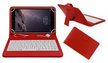 Acm Usb Keyboard Case for Apple Ipad Mini 3 Tablet Cover Stand - Red