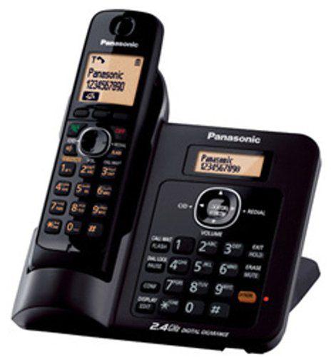 Panasonic Kx-tg3811sxb Cordless Landline Phone ( Black )