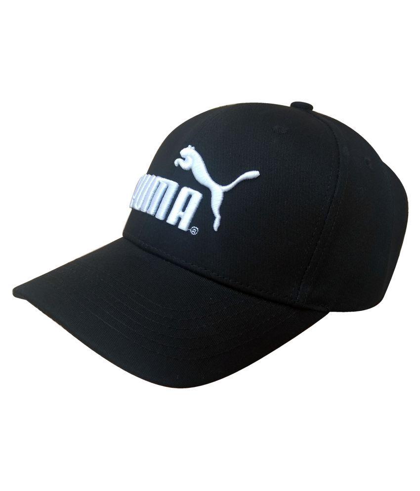 Puma F1 Black Polyester Caps