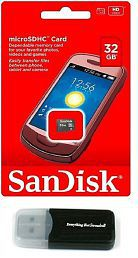 32GB SanDisk Micro SDHC Class 4 32G TF Memory Card for Samsung GALAXY Tab 7.0 Plus Galaxy S II Epic 4G Touch Cell Phone with Every
