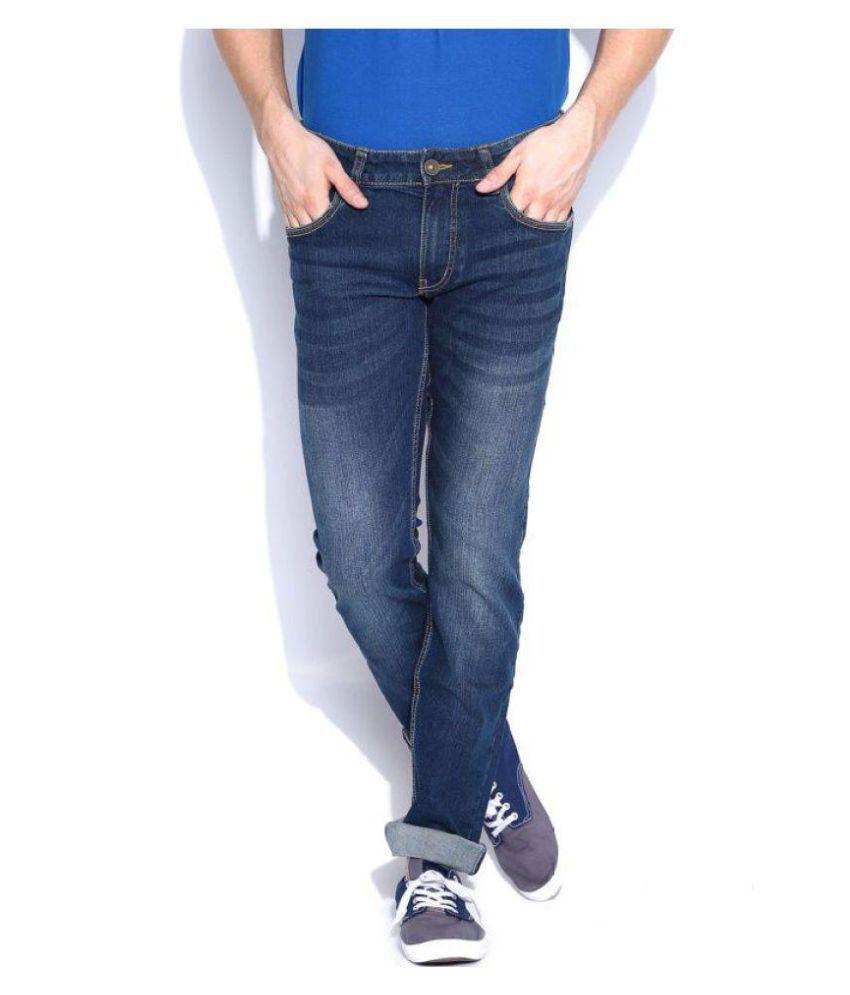 Flying Machine Navy Blue Slim Jeans