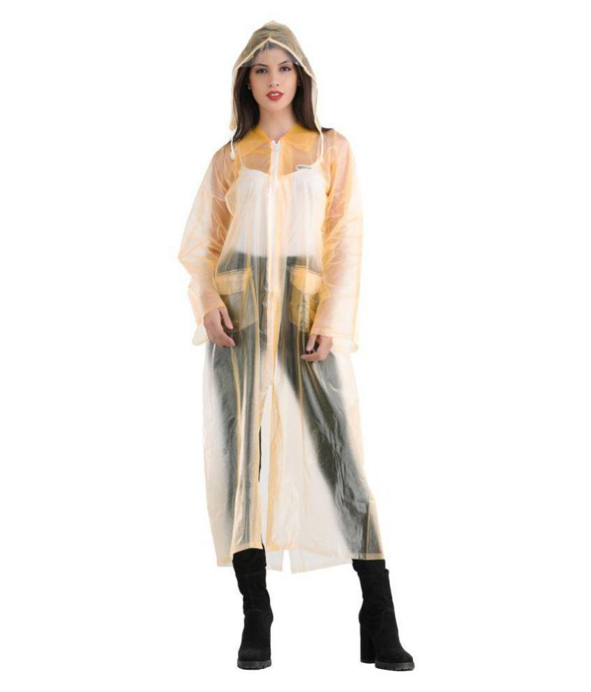 ELLIS Waterproof Long Raincoat - Gold