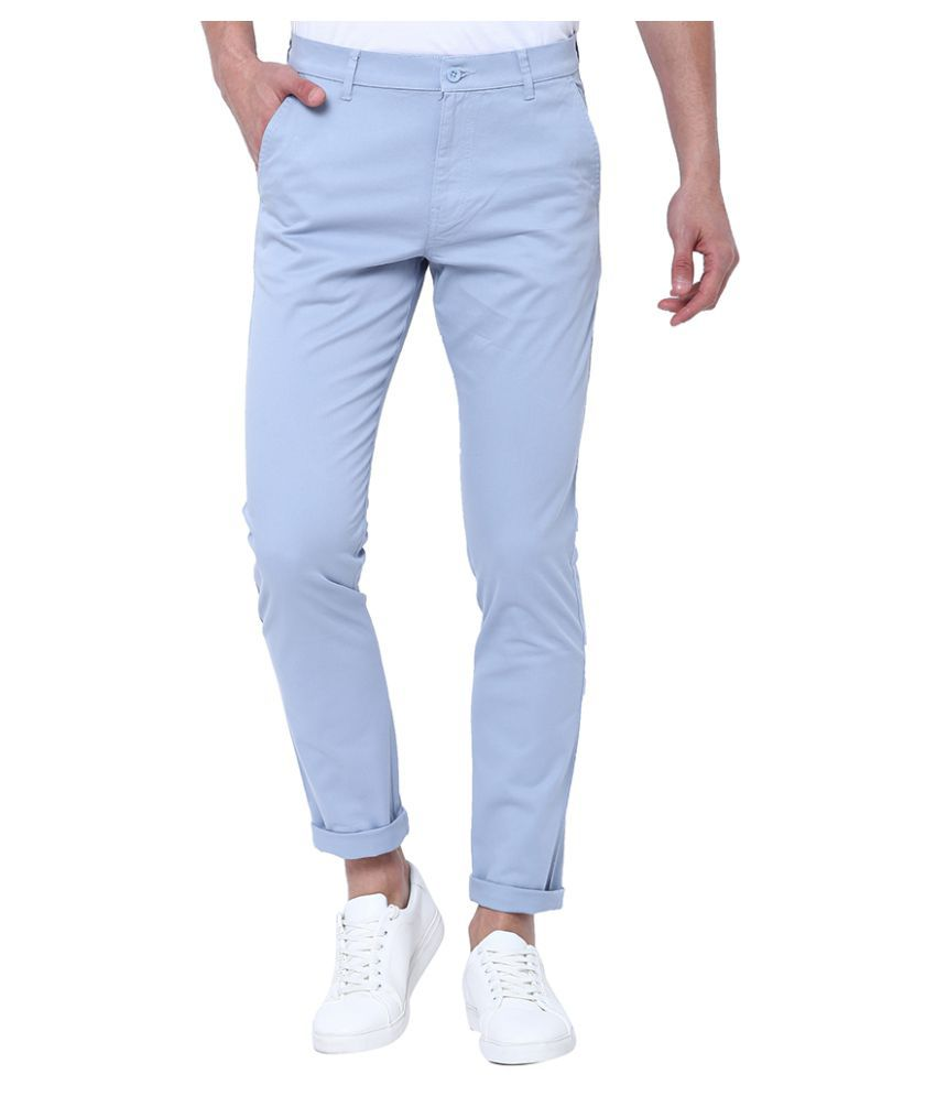 Highlander Blue Slim -Fit Flat Chinos