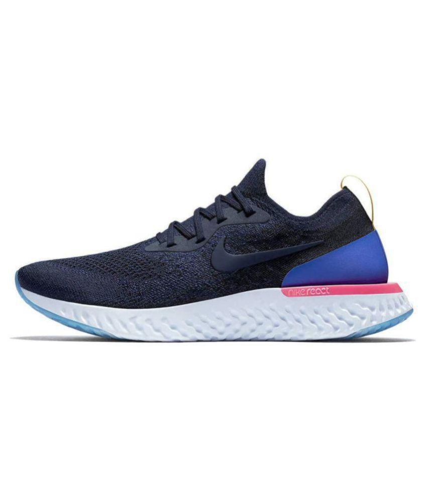 Nike Epic React Flyknit Blue Running Shoes - Buy Nike Epic React Flyknit  Blue Running Shoes Online at Best Prices in India on Snapdeal 4cd5c378a