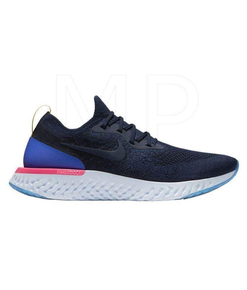 Nike Epic React Flyknit Blue Running Shoes - Buy Nike Epic React ... 8c3bedd0b