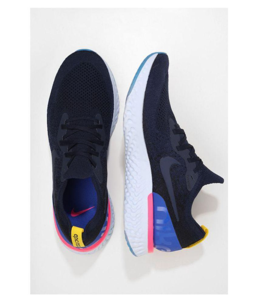 ... Nike Epic React Flyknit Blue Running Shoes ...