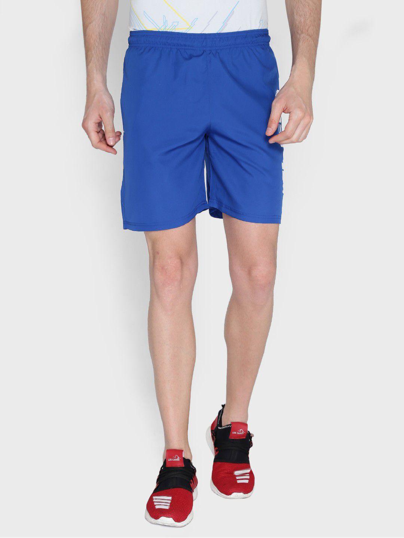 Alcis Mens Printed Blue Shorts